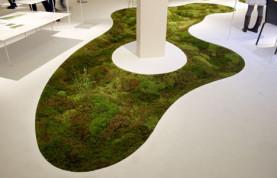 Organik yeşil halı